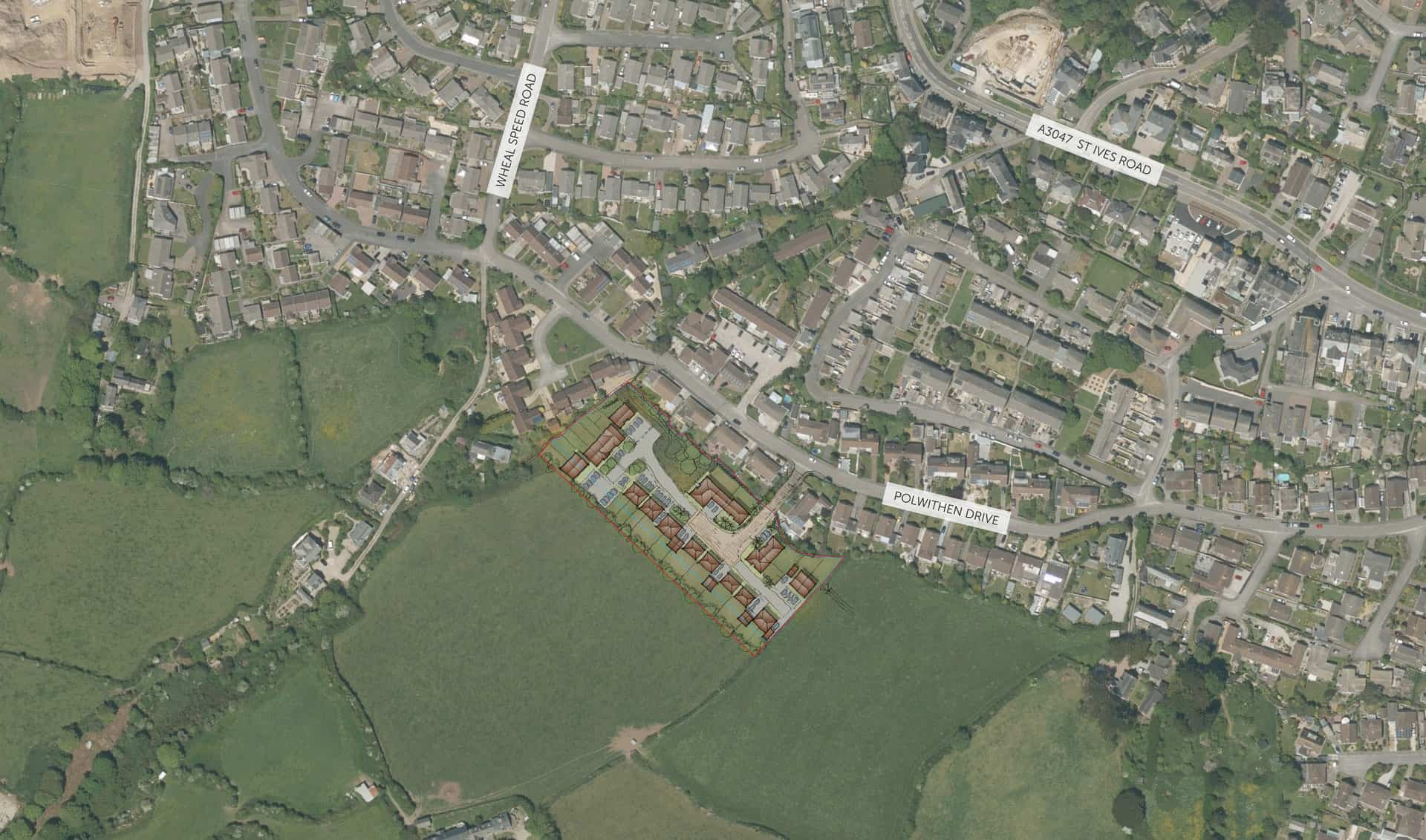 The proposals for the land off Polwithen Drive, within the context of the wider area